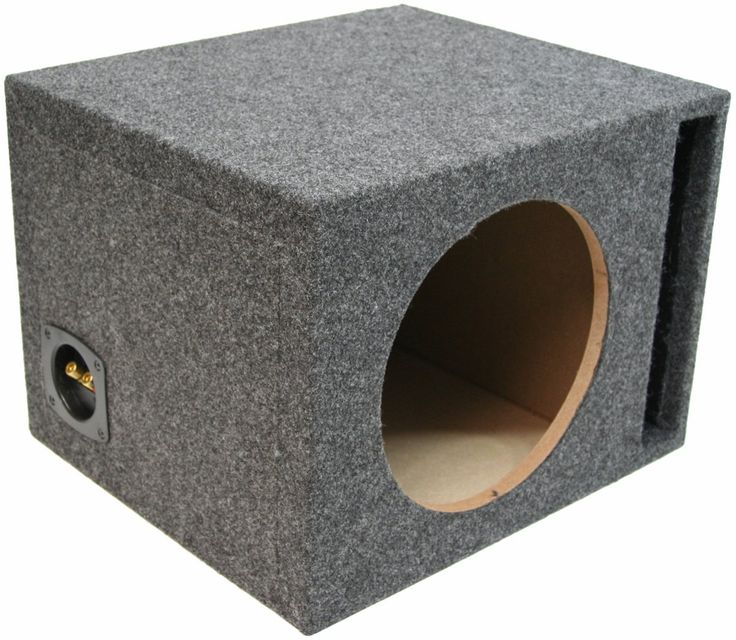 """ASC Single 12"""" Subwoofer Universal Fit Vented Port Sub Box Speaker Enclosure. Dimensions: Width 18-1/4"""" x Height 13-1/4"""" x Depth 16-1/4"""". Mounting Depth: 15-1/4 Inches. Air Space: 1.60 Cubic Feet."""