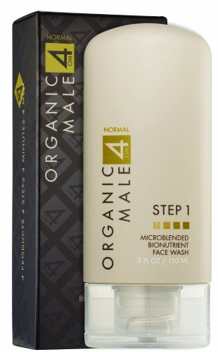 Organic Male OM4 Normal STEP 1 Microblended Bionutrient Face Wash  5 oz * Learn more by visiting the image link.