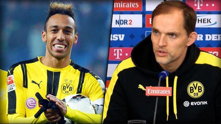 BVB-Trainer Thomas Tuchel spricht in der Pressekonferenz nach dem Spiel gegen den HSV über die Bedeutung von Pierre-Emerick Aubameyang für die Ziele der Dortmunder.