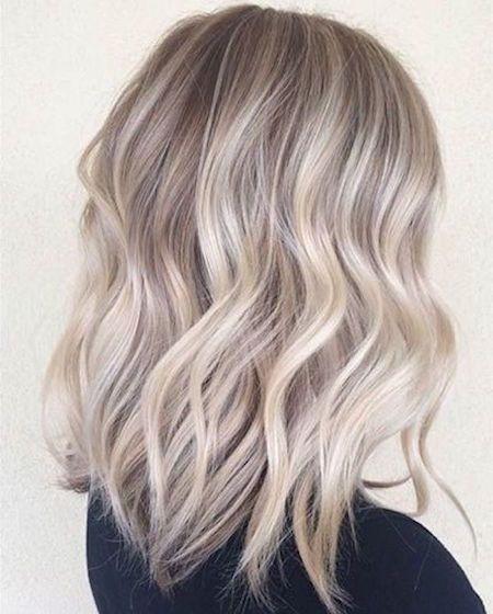 cheveux blond gris