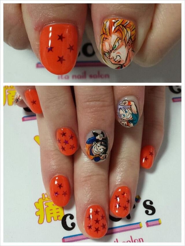 """Crunchyroll - Otaku Nail Salon Shows Off Amazing """"Kill La Kill"""" Work. I am not into nail art, but when there is fusion on nails, how can I hate it?"""