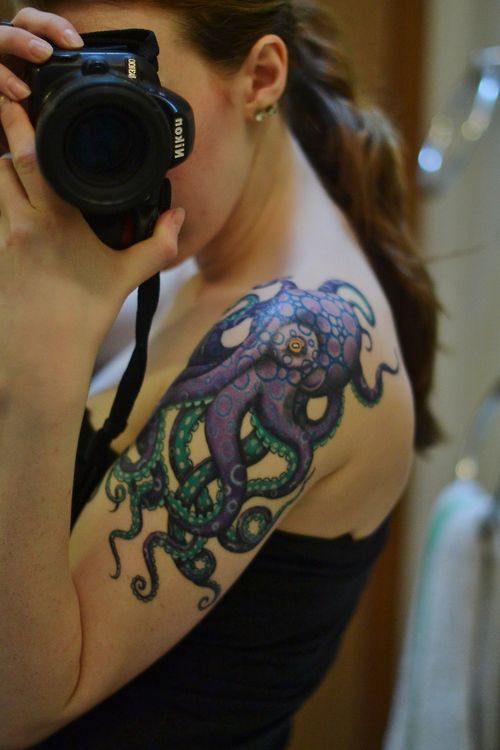 63 best sea life tattoos images on pinterest sea life for Shoulder piece tattoos tumblr