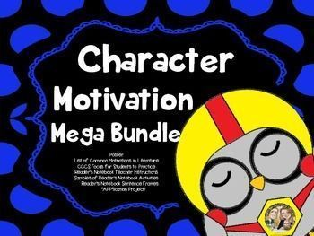 Need resources to teach CHARACTER MOTIVATION! Look no further!Here is Everything you need to Teach CHARACTER MOTIVATION!Here's What's Included:Character Motivation Poster with definition and questions to considerA List of Character MotivationsCCCS Lesson Focus for students to glue into their Reader's Notebook or Composition Books.