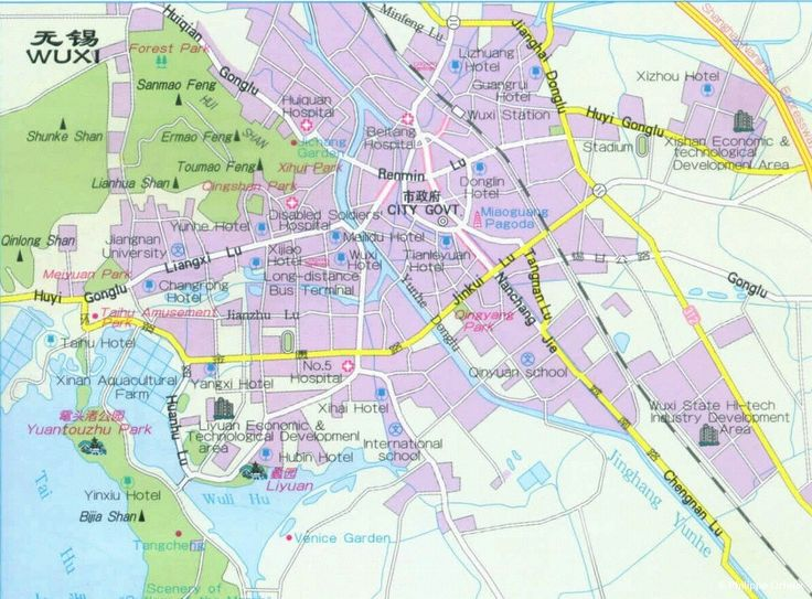WUXI : City area map