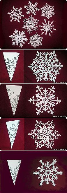 Как вырезать красивую снежинку из бумаги   abi-studio