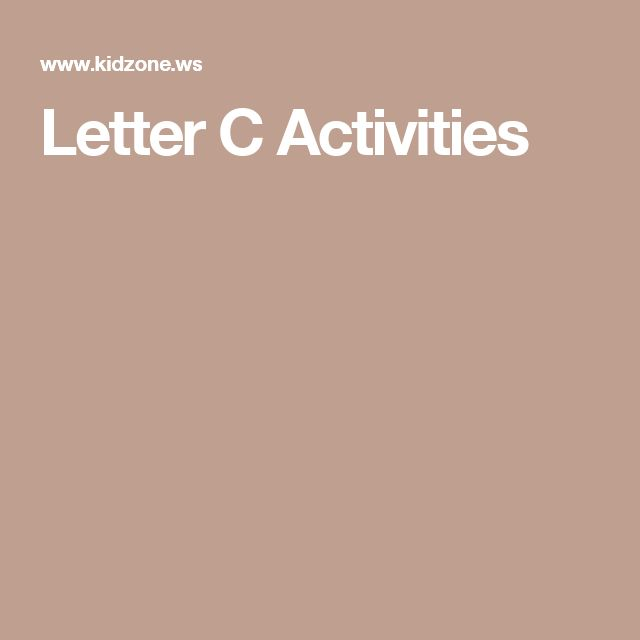 1000 ideas about letter c activities on pinterest letter crafts pre k activities and letter. Black Bedroom Furniture Sets. Home Design Ideas