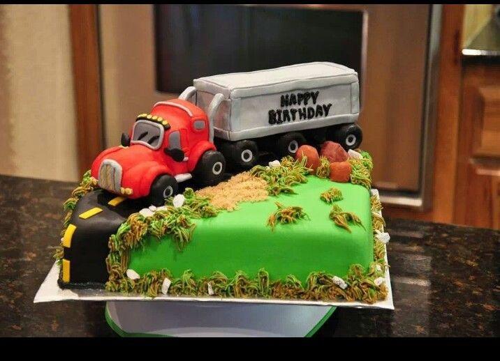 фото торта для мужчины дальнобойщика