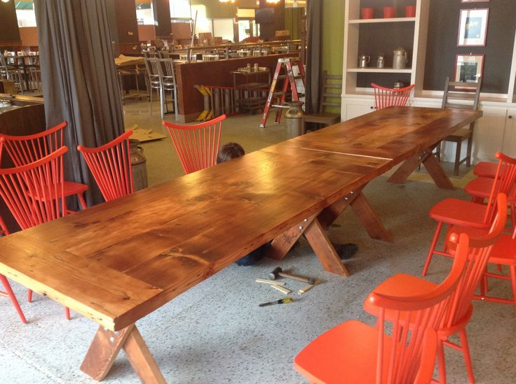 Dining table built for Hen House Eatery in Minneapolis, MN by The Old Grove  Workshop - 15 Best Images About Rustic Reclaimed Tables On Pinterest The