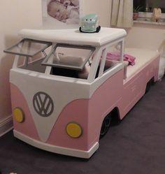 Selbstgebautes T1 Kinder-Bett 1 - Wohnmobil Kult