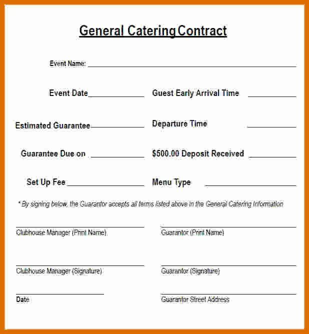 Free Catering Contract Template Awesome 5 6 Catering Contract Sample Contract Template Communication Plan Template Marketing Plan Template