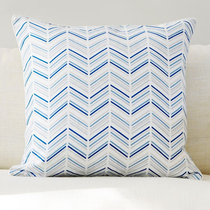 "Celestial 20"" x 20"" Modern Chevron   Marble Reversible Accent Pillow"