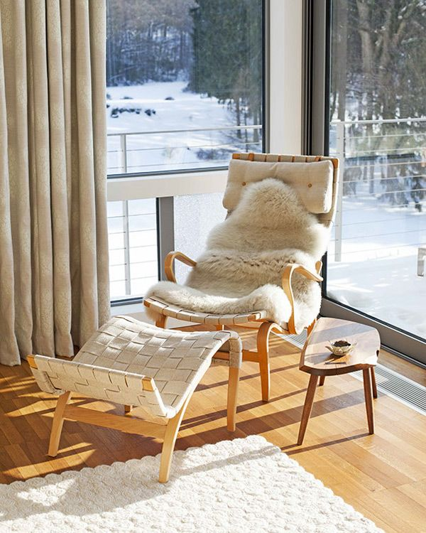 Lovely Scandinavian Chair Mage With Teak And Woven Fabric By Hanlin Design.