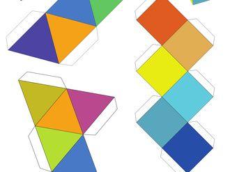 Tetraeder, Oktaeder, Würfel basteln