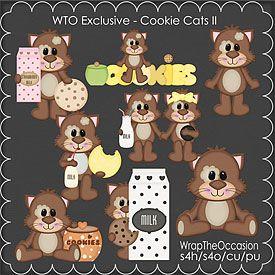 ECU-Cookie Cats Clipart Set 2