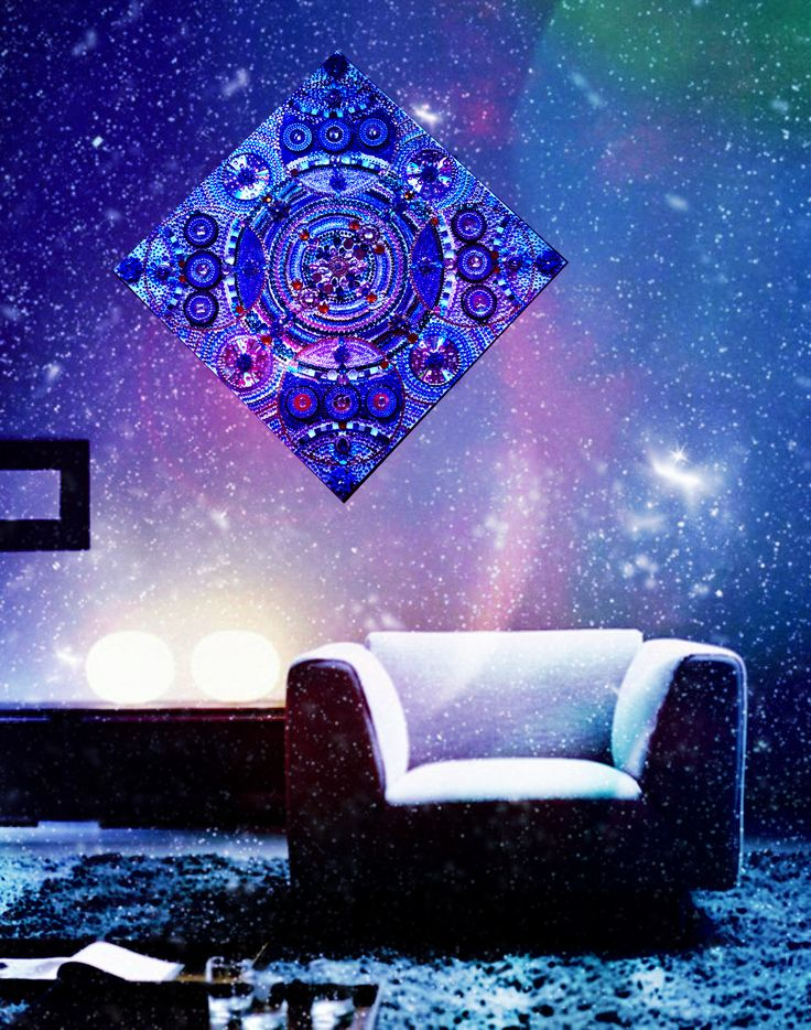 """Купить картину.  https://www.livemaster.ru/irina-bast Картина из страз """"Звездное небо"""". Детали картины. Стразы, зеркала. Космос, звездное небо, звездная пыль, переливы, космический, ночное небо, звезды, сияние, калейдоскоп, синий, синяя картина, узоры, орнамент, пайетки, вышивка, восток, восточная картина, ручная работа"""