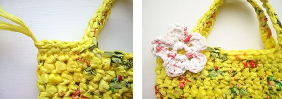 Plarn- Crochet plastic grocery bags into a recycled bag