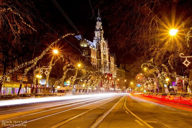 Christmas lights at the Boscolo Budapest New York Palace Hotel photo by Mark Mervai