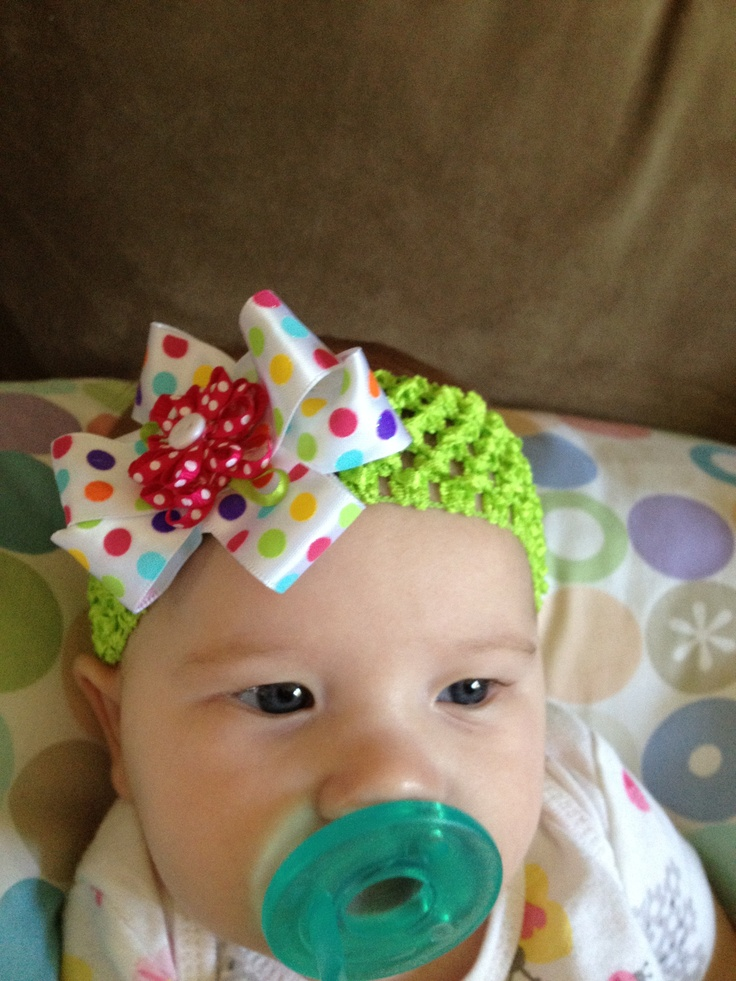 love the colors in this one! so cute and crocheted so comfy for baby's little head <3