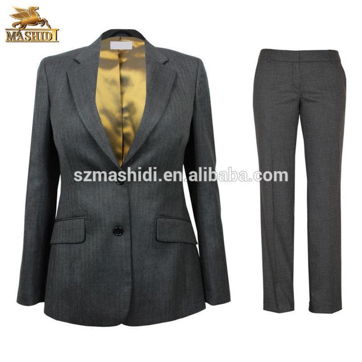 woolen fabric ladies office pants suit office ladies suit design for business womens formal wear