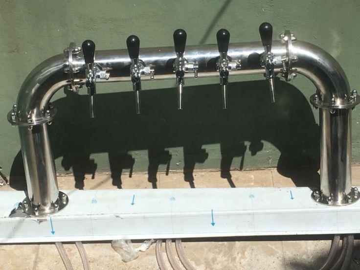 Pilón chopera cerveza de 3 pulgadas brillo espejo , para 5 canillas , el valor publicado es sin canillas ...126910582