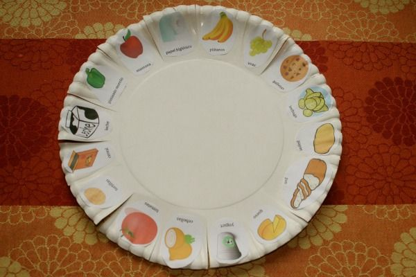 use this paper plate shopping list to speak spanish with kids in the grocery store they just. Black Bedroom Furniture Sets. Home Design Ideas