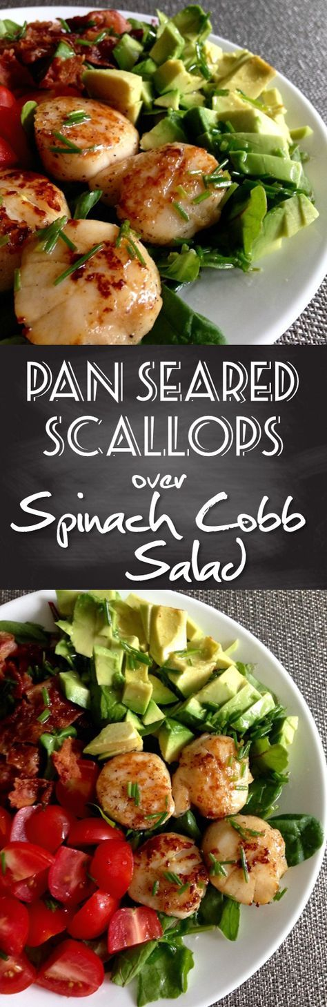 The Pan Seared Scallop Salad is the PERFECT post-workout meal. High in protein and sure to keep you feeling full for hours. My new go-to salad recipe!