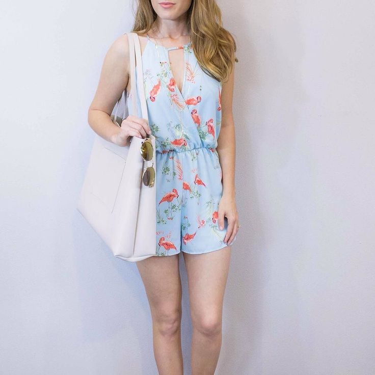 This springy flamingo romper just hit the floor and the website!  It's the prettiest shade of blue! We're open today til 5PM!  www.shopelysian.com Flamingo Flock Romper $42 online  in-store  Jessica Color Diamond Necklace $26 in-store. Asha Sunnies $44 in-store.  Out Of The Office Tote $56 in-store. #WearEysianDaily http://ift.tt/2o6YU6J This springy flamingo romper just hit the floor and the website!  It's the prettiest shade of blue! We're open today til 5PM!  www.shopelysian.com Flamingo…