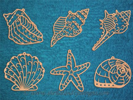SLDK320 - Seashell Filigree Ornaments