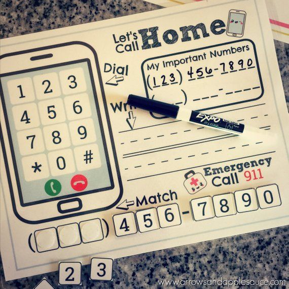 Phone Number Kids Activity, Phone Number Practice, About Me