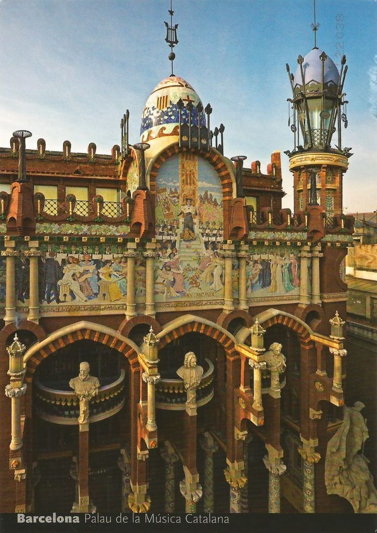palau de la musica catalana barcelona, spain   palau de la musica catalana barcelona spain unesco