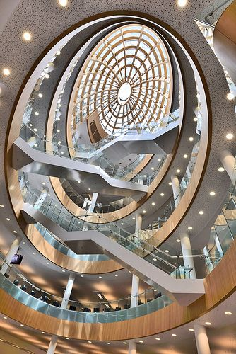 A favourite viewpoint for Liverpool Photographers, The Atrium at Central Library, this is my snap of this immense architecture.