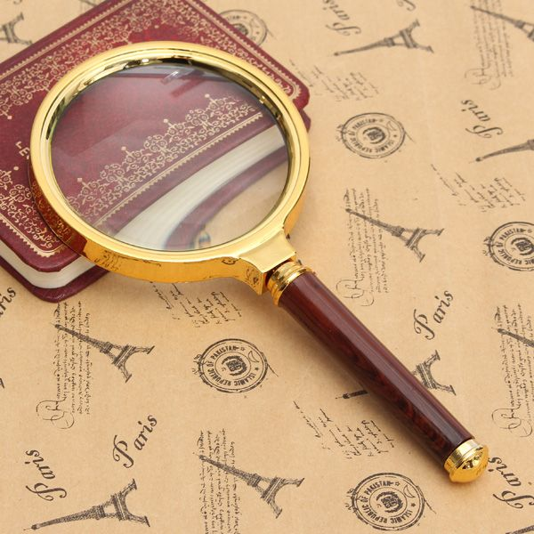 Golden-10X-60-80mm-Handheld-Magnifier-Magnifying-Glass-Len-Reading-Jewelry-Loupe