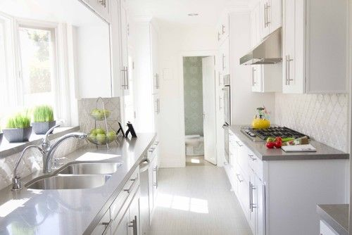 ... | Galley Kitchens, Contemporary Kitchens and White Galley Kitchens