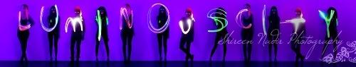 project Luminouscity by Dylan Dias . art . photo shoot . luminous . glow in the dark . neon . purple
