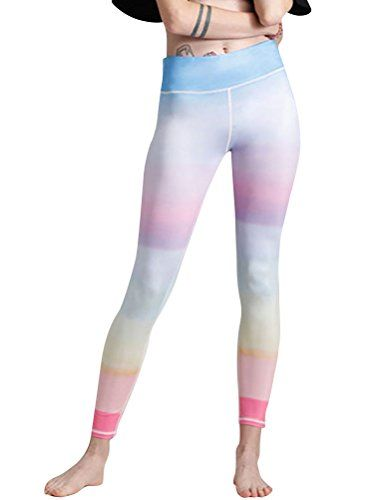 fd1a63de57 Nikibiki Women Stretchy High Waist Colorblock Leggings Yoga Gym Workout  Dancing Pants