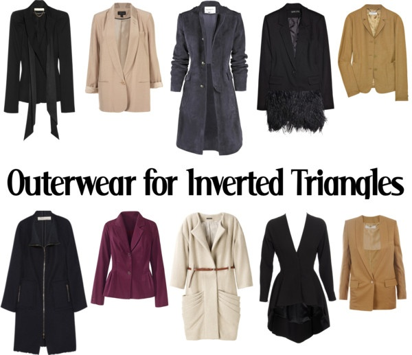"""Outerwear for Inverted Triangles-AW"" by kittyfantastica on Polyvore"