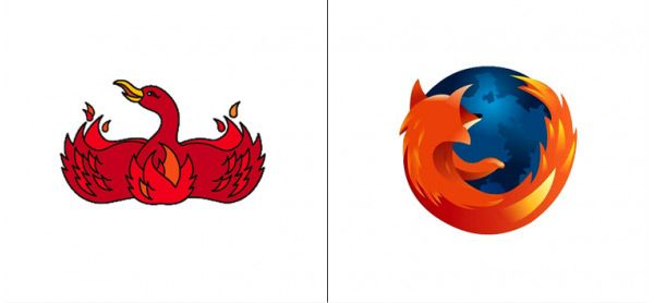 #MozillaFirefox Logo Then and Now