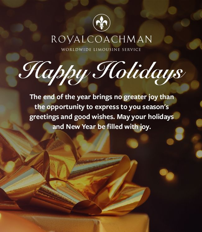 The 8 best holiday greetings images on pinterest vacation holiday royal coachman worldwide limousine service m4hsunfo