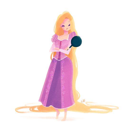 "anythingaladdin: ""Disney Princesses By: Chabe Escalante """