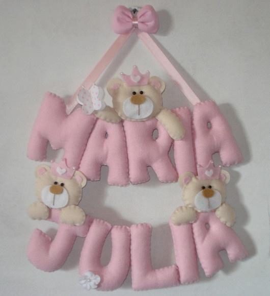 Porta Maternidade - Ursinha Princesa