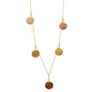 I want this!  dominique cohen | 18k mg, 5 coin drop delicate 'mackenzie' necklace - 20 inch