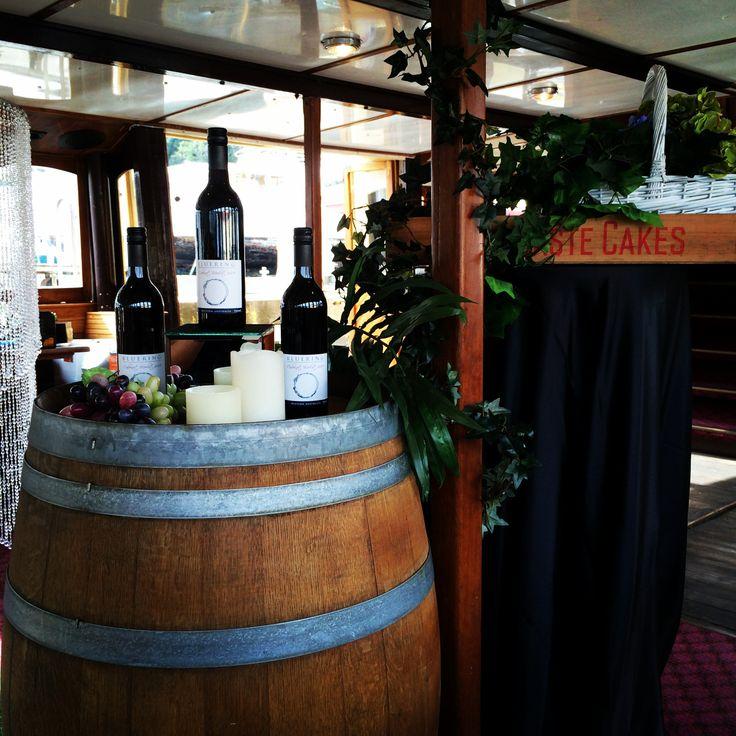 Wine Barrel, Timber crates and Ivy Columns