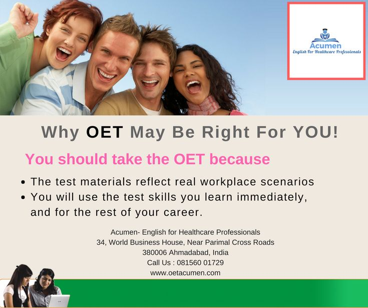Why #OET may be right for YOU!  So, if you've been weighing the benefits of #OET and you've asked the most important question of all: Why #OET?