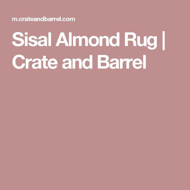 Sisal Almond Rug | Crate and Barrel