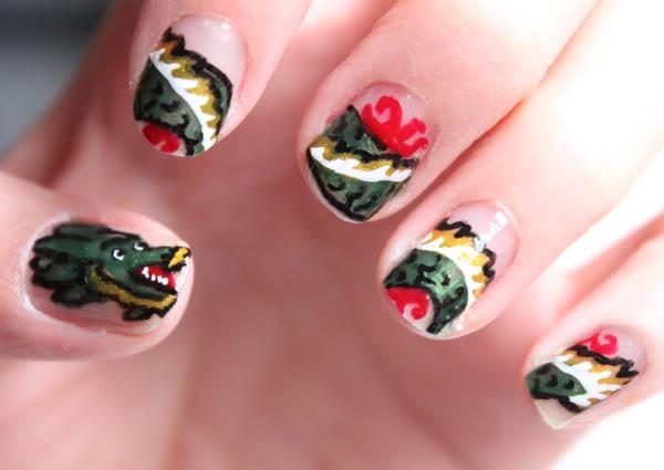 Syl and Sam: tutorial - chinese new year nails #china #chinese #tattoo #girl
