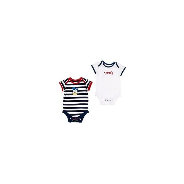 Donald Duck Nautical Body - 2 Pack (can be personalised) | Bodysuits |... ❤ liked on Polyvore featuring baby and baby stuff