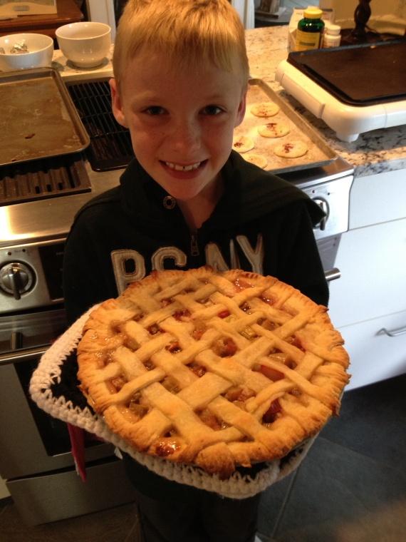 Zoran's rhubarb pie...