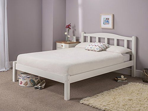 Snuggle Beds Amberley White Wooden Solid Slatted 4ft Small Double Bed Frame