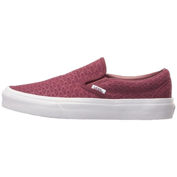 Vans Classic Slip-Ontm ((Suede Embossed Weave) Port Royale/True White)... (190 BRL) ❤ liked on Polyvore featuring shoes, sneakers, suede slip-on sneakers, boat shoes, slip on sneakers, slip on boat shoes and slip-on shoes