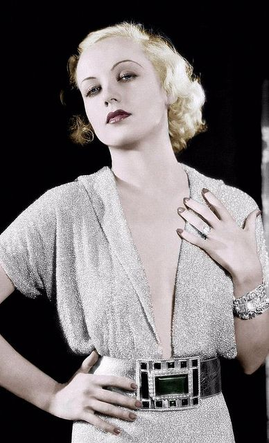 Carole Lombard, LOVE the dress, belt and accessories! This dress is absolutely incredible with accessories